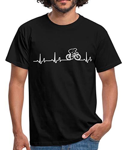 Rennrad EKG Fahrrad Rennradfahrer Bike Männer T-Shirt, 3XL, Schwarz