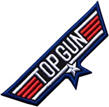 Top Gun USA Blue Appliques Hat Cap Polo Backpack Clothing Jacket Shirt DIY Embroidered Iron On / Sew On Patch
