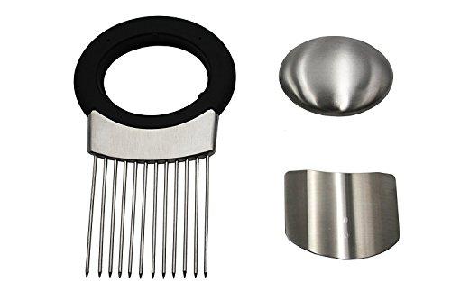 NANHONG Onion Holder Slicer Stainless Steel Soap Odor Remover Vegetable Chopper for Potato, Tomato, Meat Tenderizer