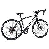 Aluminum Frame Road Bike, Full Suspension, 700C Road Bike Bicycles...