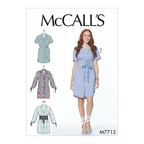 Mccall's Patronen mist jurken en riemen naaien patroon, Tissue Multi-kleur, 17 x 0.5 x 0.07 cm