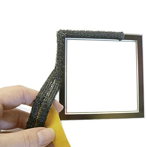 Self Adhesive Stove Rope Glass Gasket Fire Seal Flat Tape 17mm Wide x 2mm Ladder