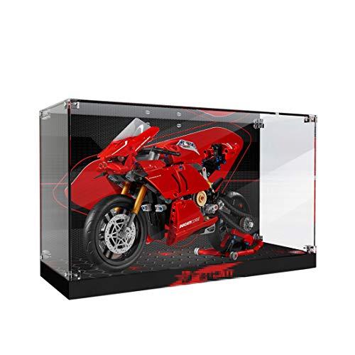 YDDY Schaukasten für Lego Technic Ducati Panigale V4 R Motorrad 42107 Acryl Vitrine Lego Technik (Nicht Enthalten Lego Modell)