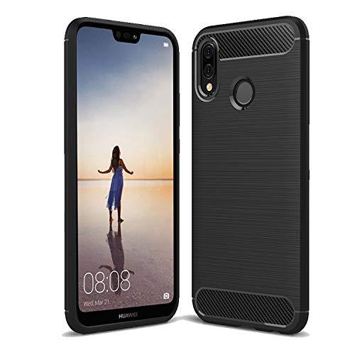 cookaR Funda Huawei P20 Lite, Funda Huawei P20 Lite Funda Protectora Ultra Thin Silicona de Silicona Suave para Huawei P20 Lite Funda(Negro)
