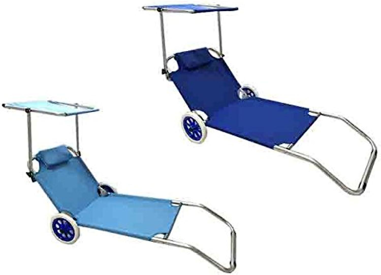 ofreciendo 100% Tumbona Spiaggina con techo y y y ruedas 150x 65x 61cm idea Regalo Pic Nic Jugara   AG174894195851037  Envío y cambio gratis.