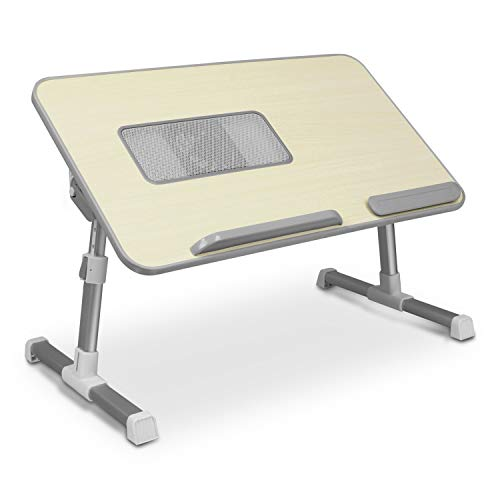 Aluratek (ACT01F) Adjustable, Foldable, Ergonomic, Laptop Cooling Table with Cooling Fan (Standing Desk, Sofa/Couch Tray, Floor)