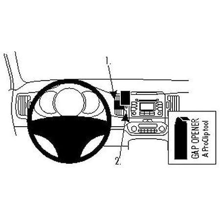 Brodit 854557 Proclip Halterung Schwarz Elektronik