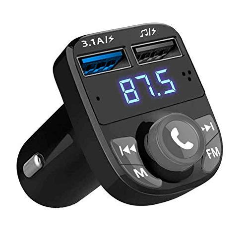 QUMOX Handsfree Call Car Charger,Wireless Bluetooth FM Transmitter Radio...