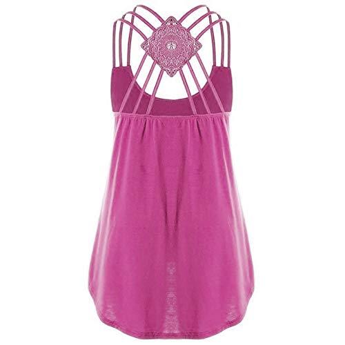 Amandaz Sport Shirt Yoga Rückenfrei Träger Top FitnessLockerer ausgestellter Saum Oberteile Crossover sexy Top mit Neckholder