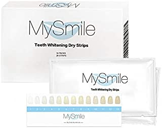 MySmile White Strips Teeth Whitening - Professional Express Effects - Pearl White - Non Sensitive - 14 Packs 28 Pieces