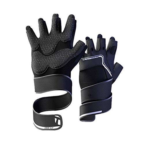Jaffick Gym Gloves for Men Fingerless Weight Lifting Gloves Workout Cycling Gloves for Crossfit Exercise Fitness