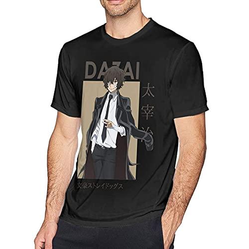 XCNGG Clásico Anime Young Osamu Dazai Bungou Stray Dogs Camisetas de algodón de Manga Corta