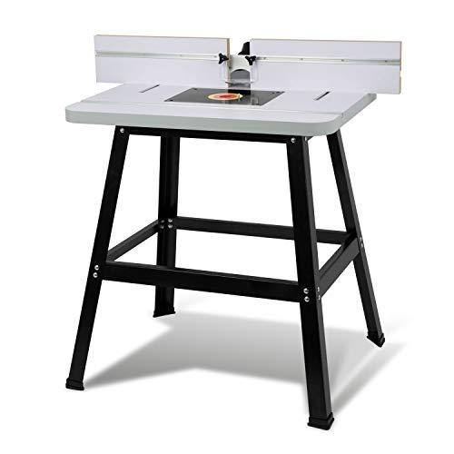 EBERTH Oberfräsentisch Frästisch für Oberfräse und Tischfräse (810 x 610 mm Arbeitstisch, 880...