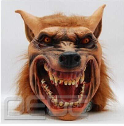 XDDXIAO Máscara de Silicona de látex de Halloween Máscara de Lobo Espeluznante Máscara de Animal Máscaras de Hombre Lobo de Terror para Halloween Disfraces de Cosplay Máscaras de Fiesta para Adultos