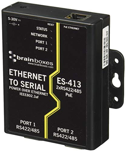 Best Bargain Brainboxes ES-413 Ethernet 2 Port RS422/485 Power Over Ethernet PoE