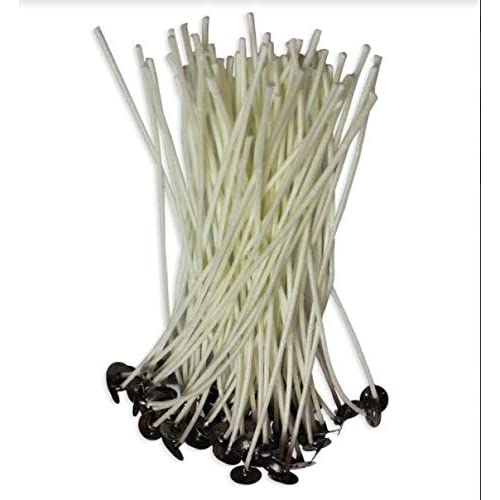 8 inch Cotton Threads Woven with Paper 100pcs//lot Candle Wicks for Candle Making Coated with Natural Soy Wax Candle DIY Low Smoke