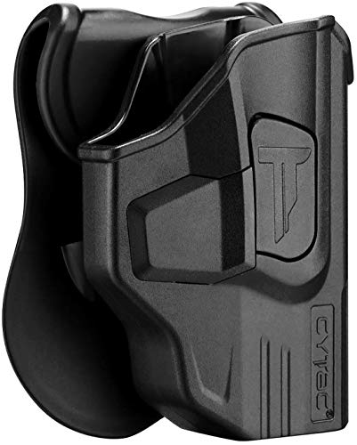Taurus G2C Holsters, OWB Holster for G3C G2S Taurus Millennium G2 PT111 PT132 PT138 PT140 PT145 PT745(Not Pro/G3), Polymer Tactical Outside The Waistband Carry Belt Holster with 360° Adjustable -RH