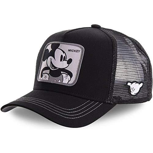 Nueva Gorra de bisbol de algodn Snapback para Hombres y Mujeres, Gorra de Camionero de Hip Hop para pap-Mickey Black