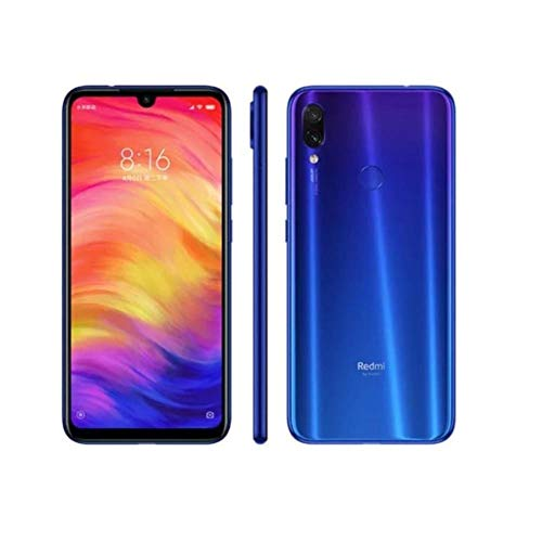 "Xiaomi Redmi Note 7 128GB + 4GB RAM 6.3"" FHD+ LTE Factory Unlocked 48MP GSM Smartphone (Global Version, No Warranty) (Neptune Blue)"