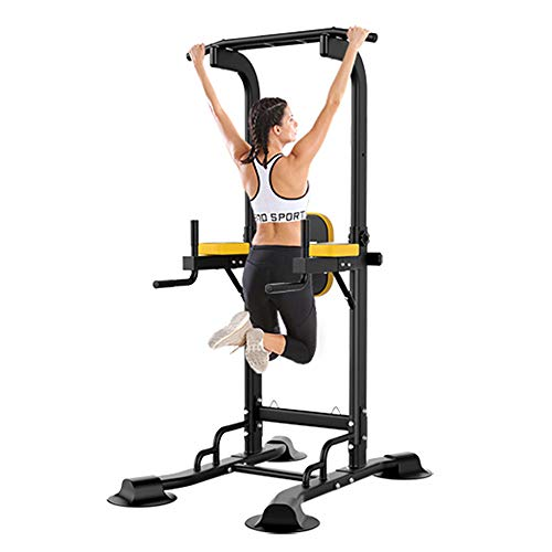 Power Tower Pull Up Bar, Adjustable Height Pull Up & Dip Station Multi-Function Home Gym Strength...