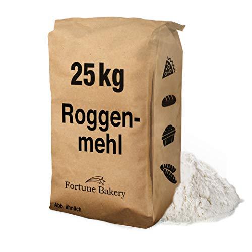 25 kg Mehl Roggenmehl – Typ 997 – Universal Mehl für Back- und Teigwaren Soßenbinder