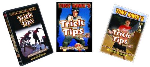 Tony Hawk Trick Tips - Learn to Skateboard - 3 DVD Gift Pack