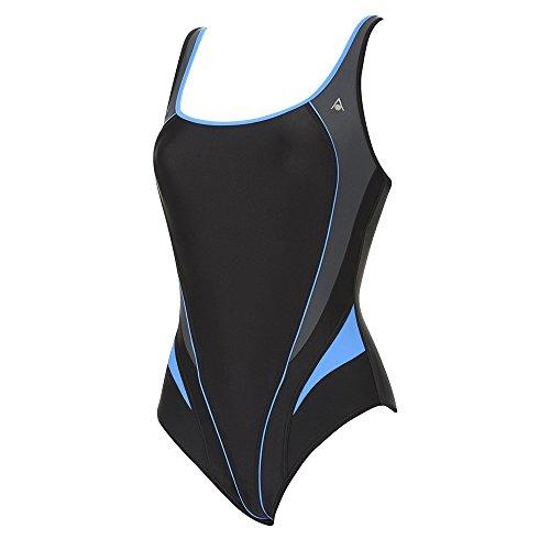 Aqua Sphere Ladies/Womens Lima Naiad Swimming Costume/Swimsuit (30) (Black/Blue)