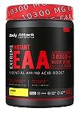 Body Attack Extreme Instant EAA Powder - 500g, extremadamente sabroso, instantáneamente soluble, vegano, 8 aminoácidos esenciales altamente dosificados - 10300mg EAA por batido, Limón