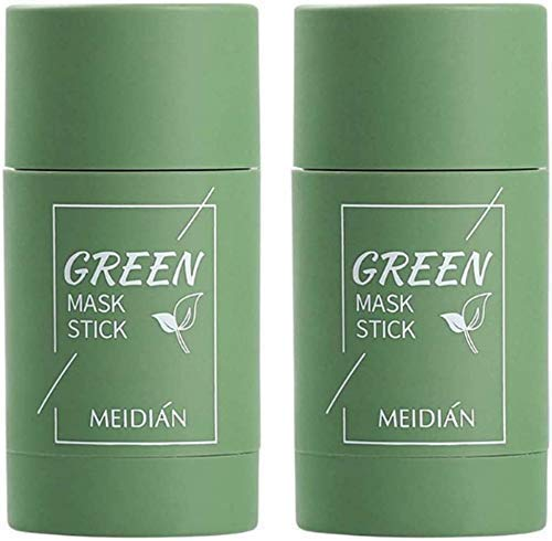 Green Tea Purifying Clay Stick Mask Oil Control Deep Cleaning Shrink Pores (2X thé Vert)