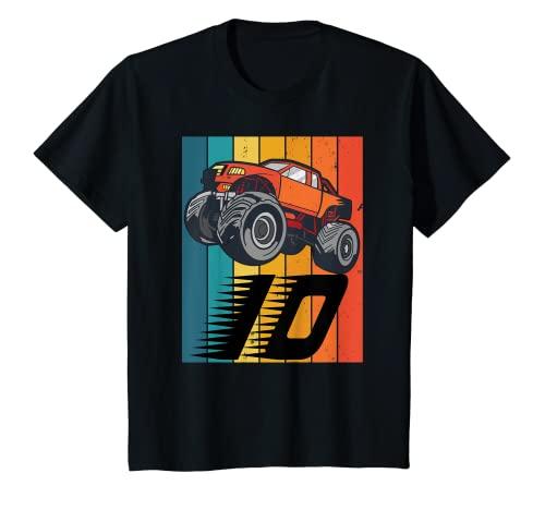 Niños Cumpleaños de 10 años de Monster Truck Camiseta
