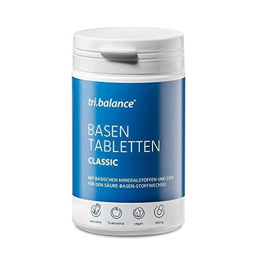 tri.balance Basentabletten Natural 225 Tabletten - 1er Pack I Classic I Zum Säure-Basen-Ausgleich I Mit Zink - basischen Mineralstoffen - vegan