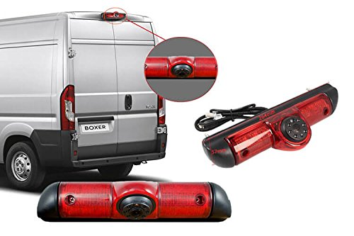 CARALL KR4000 Telecamera Retromarcia Specifico Compatibile Con Furgone Fiat Ducato Peugeot Boxer Citroen Jumper Con Luci Led Terzo Stop Posteriore