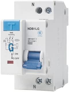 ASI NDB1L-32C-20-120V DIN Rail Mount Ground Fault Circuit Breaker, UL 1053 Ground Fault Sensing, Leakage Current 30 mA, 20 amp, 120V