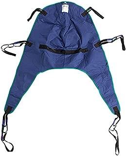 Drive Medical Divided Leg Patient Lift Sling with Headrest, Blue, Medium