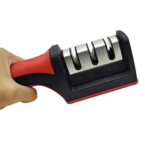 U-TECH Professionele messenslijper 3-in-1 messenslijper voor keukenmessen, voor alle soorten messen