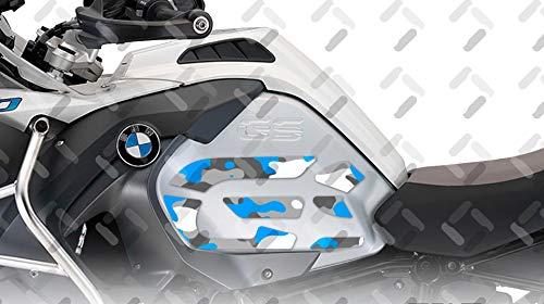 Kit X2 GS Camuflaje Adhesivo Lateral para Motocicleta BMW R 1200 GS ADV 2014-2018 ST-GS-R1200ADV-C (Alpine White)