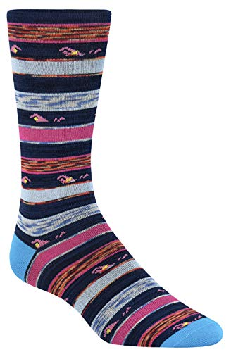 Bugatchi Men's Fashion Sock Night Blue