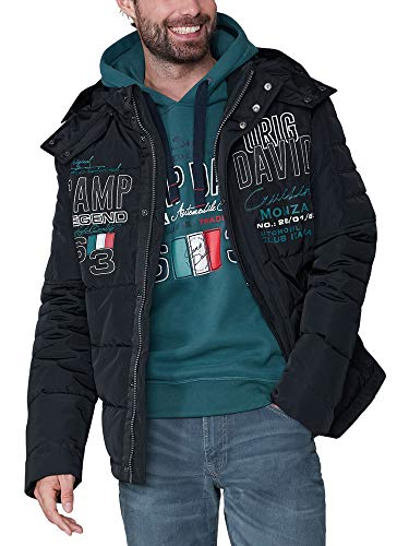 Camp David Herren Steppjacke im Racing-Stil mit Artworks
