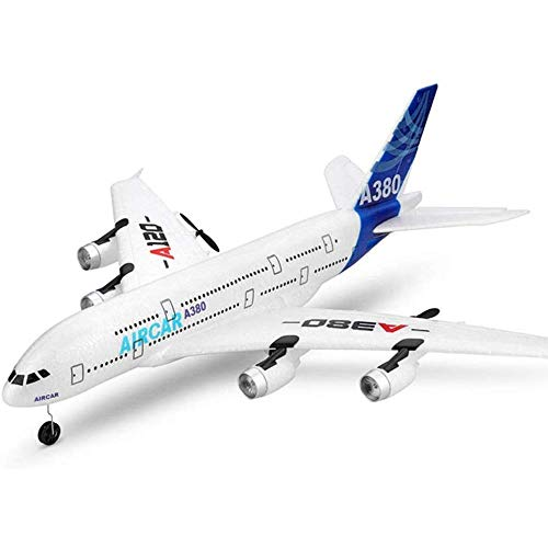 Mando a distancia de alta simulación A380 Modelo de avión Avión de control de radio profesional de 2,4 GHz Material EPP anticaída con planeador de juguete al aire libre Gyro de 6 ejes para niñ