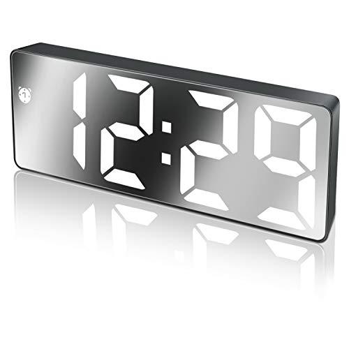Reloj Despertador Digital,Pantalla LED de Números Grandes con Función de Repetición...