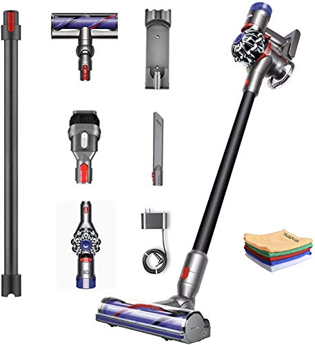 Premium Dyson V8 Motorhead HEPA Filter, Cordless Stick Vacuum Cleaner Lightweight, Strong Suction, Handheld Ergonomic, Bagless, Washable Filter, Rechargeable Battery + w/One Hubxcel Microfiber Cloth