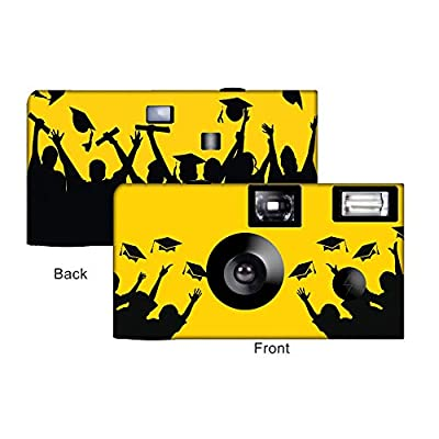 5 Yellow Graduation Custom Disposable Cameras, Can be Personalized, Single Use, Graduation from CustomCameraCollection