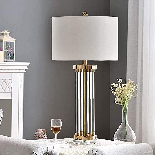 Palm kloset Lámpara de Mesa LED Dorado Tubo de Vidrio Simple Dormitorio de Cristal Dormitorio Estudio Sala de Estar mesita de Noche iluminación de la lámpara