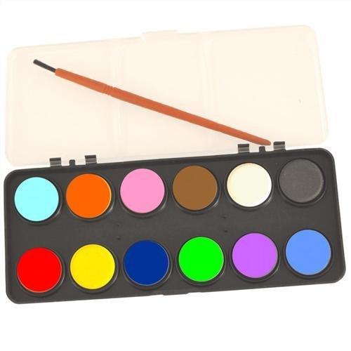 Kids Watercolour Paint Set 12 Colours With Brush Art & Craft: Amazon ...
