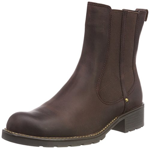 Clarks Orinoco Club, Damen Halbschaft Stiefel, Braun (Burgundy Leather), 36 EU