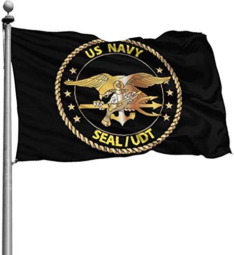 MOEEZE Us Navy Seal -Udt Flag for Outdoor Indoor Home House Decor Durable Garden Flag Custom