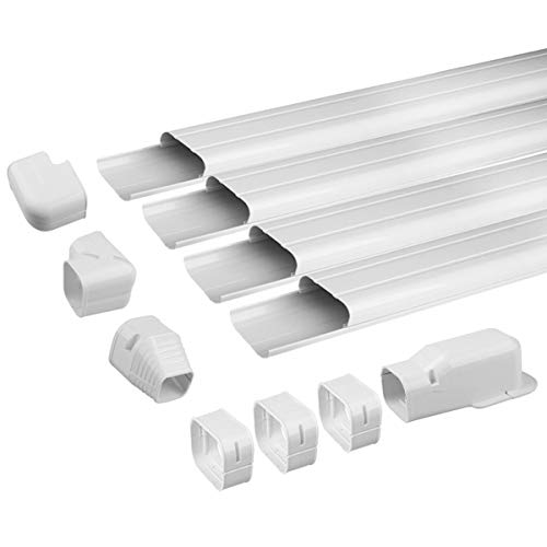Air Jade AC Line Set Cover Kit, Decorative PVC Tubing Cover for Ductless Mini Split and Heat Pumps Systems & Central Air Conditioner,Condenser Units (3 in 14ft)