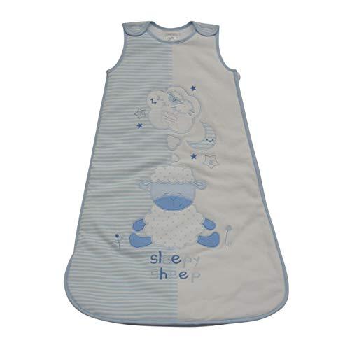 Pitter Patter Baby Jungen Schlafsack aus Baumwolle mit Stickerei Sleepy Bear - 42405-B (18-24 Monate)