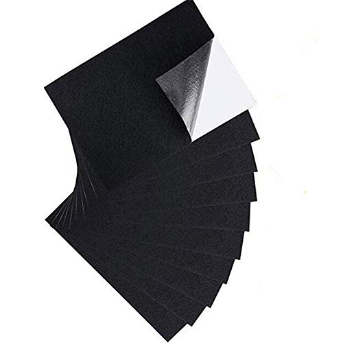 10pcs Black Felt Fabric Adhesive A4 Sheets, Self-Adhesive Waterproof Sheets for Art & Crafts, Jewelry Box Liner, Furniture Protector Pads
