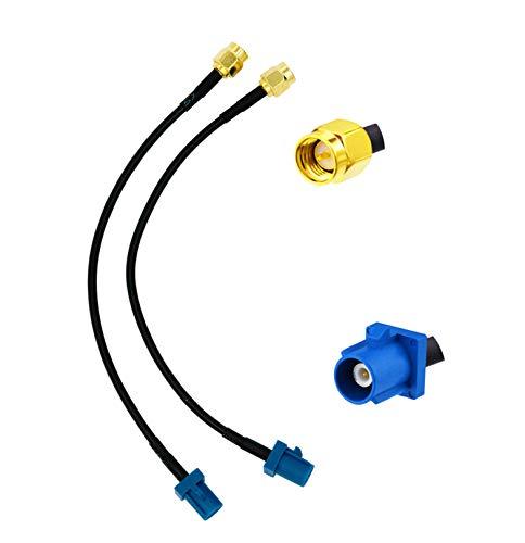 Vecys Cable de Antena GPS Fakra C a Cable de Extensión de Antena de Enchufe SMA RG174 15CM 5.9 Pulgadas para Sistema de Navegación de Antena GPS de Coche Módulo de Seguimiento GPS DVR